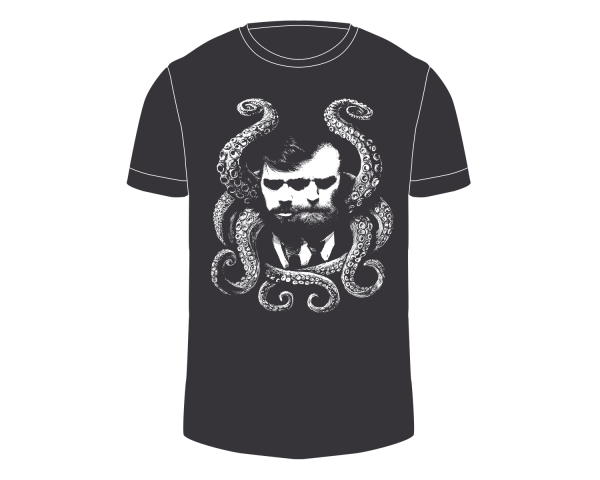 Herren Shirt | Lovecraft | charcoal